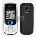 Корпус для Nokia 2330c, черный, копия ААА, с клавиатурой