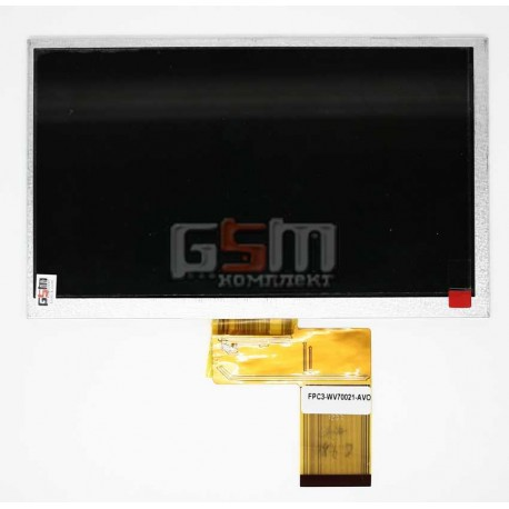 "Дисплей для планшетов China-Tablet PC 7""; Freelander PD10, PD10 3G, PD20; GoClever Tab T76GPS, Tab T76GPS TV, (165*100 мм), 50 p"