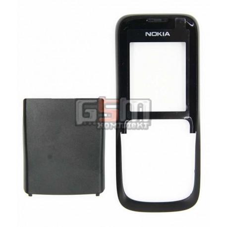 Корпус для Nokia 2630, черный, копия ААА, передняя и задняя панель