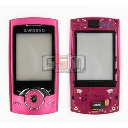 Передняя панель корпуса для Samsung U600, розовый, с верхним клавиатурным модулем