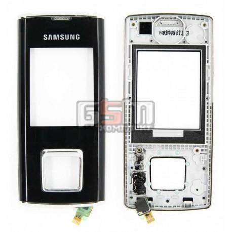 Передняя панель корпуса для Samsung J600, черный, с верхним клавиатурным модулем