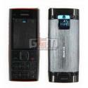 Корпус для Nokia X2-00, красный, high-copy, с клавиатурой