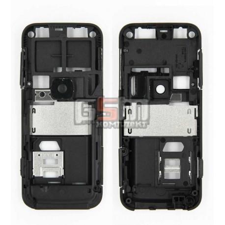 Средняя часть корпуса для Nokia 6120c, 6121c, черная, полная
