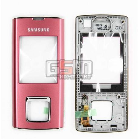 Передняя панель корпуса для Samsung J600E, розовый, с верхним клавиатурным модулем