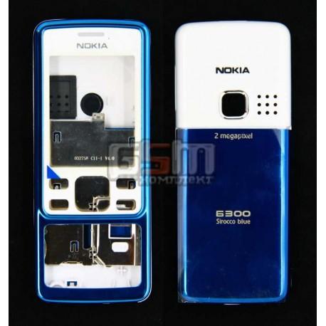 Корпус для Nokia 6300, голубой, копия ААА