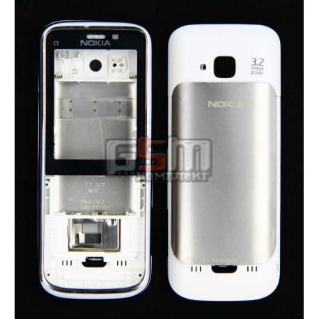 Корпус для Nokia C5-00, белый, копия ААА