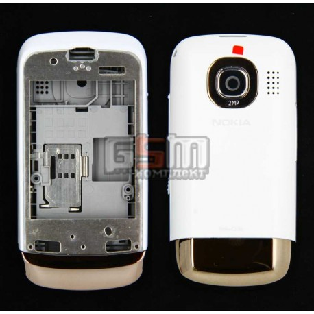 Корпус для Nokia C2-03, белый, копия ААА