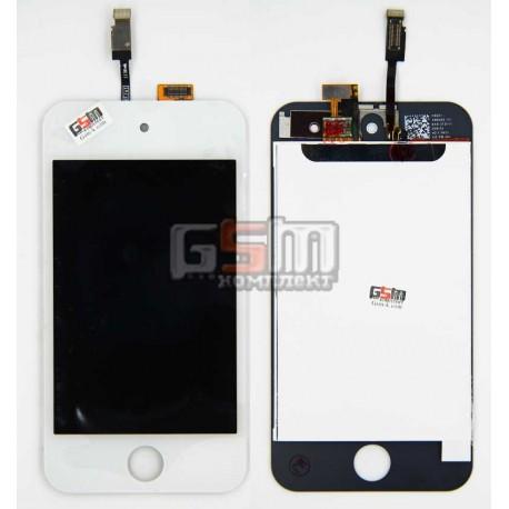 Дисплей для MP3-плеера Apple iPod Touch 4G, белый, с сенсорным экраном (дисплейный модуль)