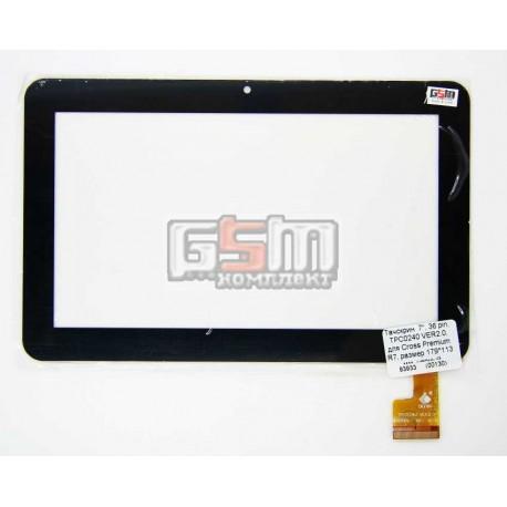 """Tачскрин (сенсорный экран, сенсор) для китайского планшета 7"""", 36 pin, с маркировкой TPC0240 VER2.0, для Cross Premium R7, разме"""