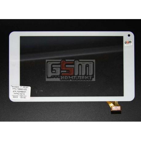 """Tачскрин (сенсорный экран, сенсор) для китайского планшета 7"""", 30 pin, с маркировкой FPC-799A0-V00, для Impression ImPAD 4214, р"""