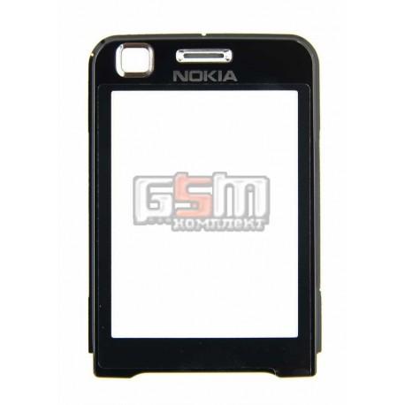 Стекло корпуса для Nokia 6120c, черный
