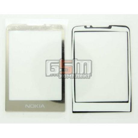 Стекло корпуса для Nokia 6700c, золотистое