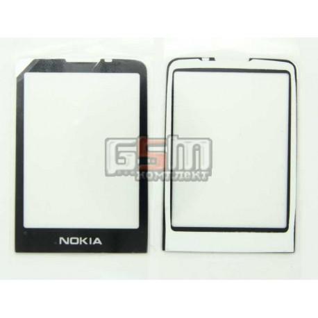 Стекло корпуса для Nokia 6700c, черное, пластик