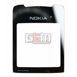 Стекло корпуса для Nokia 8800 Sirocco, серебристое