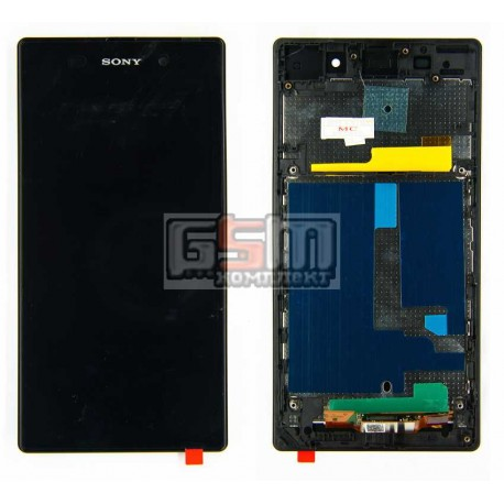 Дисплей для Sony C6902 L39h Xperia Z1, C6903 Xperia Z1, C6906 Xperia Z1, C6943 Xperia Z1, черный, original (PRC), с сенсорным эк