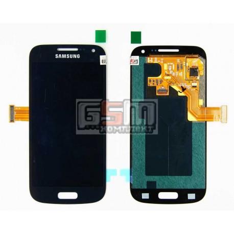 Дисплей для Samsung I9190 Galaxy S4 mini, I9192 Galaxy S4 Mini Duos, I9195 Galaxy S4 mini, синий, с сенсорным экраном (дисплейны