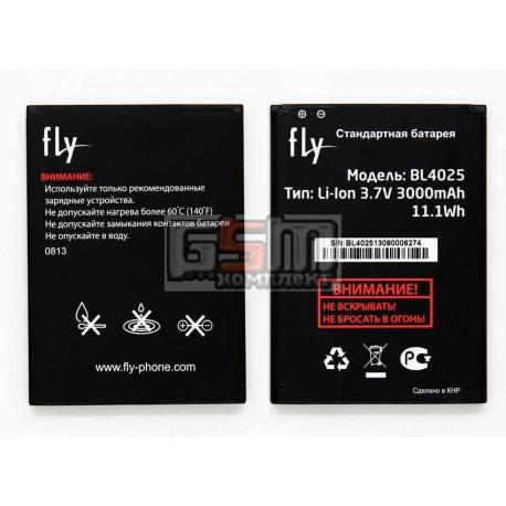 Аккумулятор BL4025 для Fly IQ4411, original, (Li-ion 3.7V 3000mAh), #200200160
