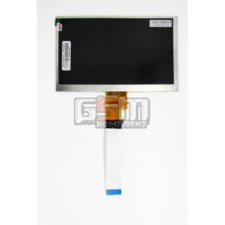 """Экран (дисплей, монитор, LCD) для китайского планшета 7"""", 40 pin, с маркировкой AT070TNA3, для Ainol Numy AX1 3G, размер 166*106"""