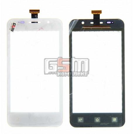 Тачскрин для Pioneer E60W; Prestigio MultiPhone 4322 Duo, белый, #TF0200C-YNE B088-A600 FPC
