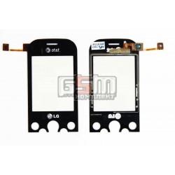 Тачскрин для LG KS360, черный, с защитным стеклом