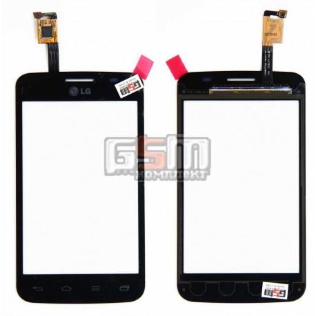 Тачскрин для LG E445 Optimus L4 Dual SIM, черный