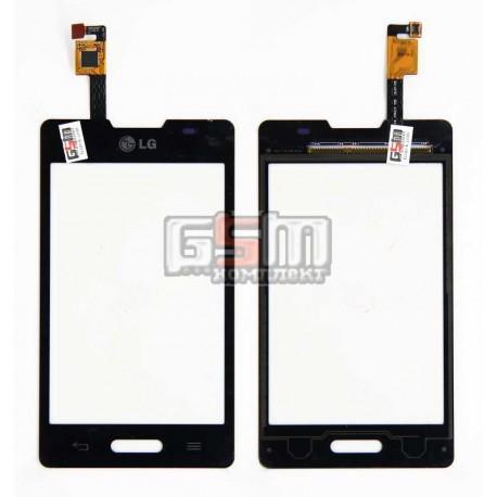 Тачскрин для LG E440 Optimus L4x, черный