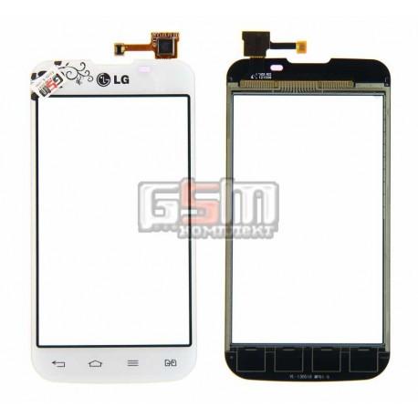 Тачскрин для LG E455 Optimus L5 Dual SIM, белый, la fleur