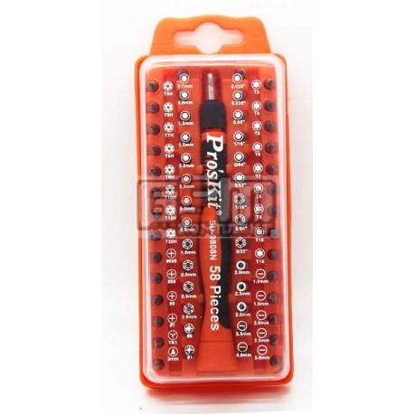 Proskit Прецизионная отвертка с удлиненными насадками (58 шт) SD-9808
