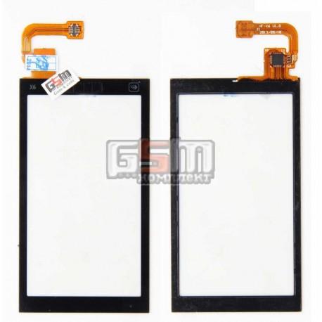 Тачскрин для Nokia X6-00, копия, черный
