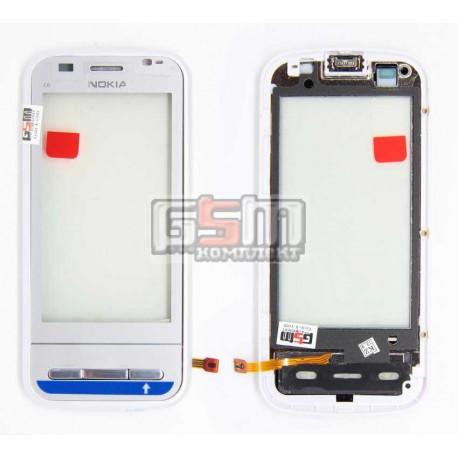 Тачскрин для Nokia C6-00, белый, с передней панелью