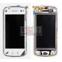 Тачскрин для Nokia N97, белый, с передней панелью