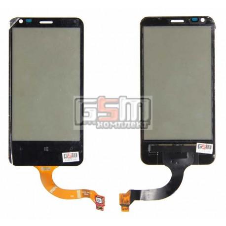 Тачскрин для Nokia 620 Lumia, черный, новая версия, rev3, (версия прошивки 3046.xxxx.xxxx.xxxx (AMBER))