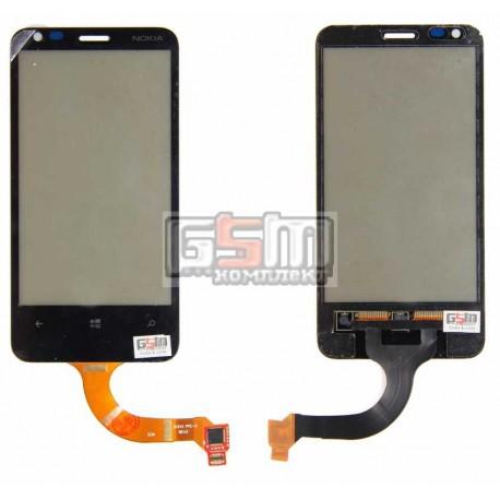 Тачскрин для Nokia 620 Lumia, черный, старая версия, rev3, (версия прошивки 1030.xxxx.xxxx.xxxx)