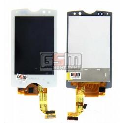 Дисплей для Sony Ericsson SK17, белый, с сенсорным экраном (дисплейный модуль)