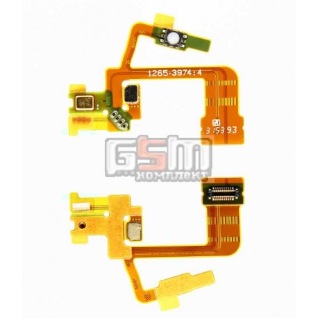 Шлейф для Sony C6502 L35h Xperia ZL, C6503 L35i Xperia ZL, мікрофону, кнопки камери, з компонентами