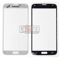 Стекло корпуса для Samsung G900F Galaxy S5, G900H Galaxy S5, G900T Galaxy S5, белое
