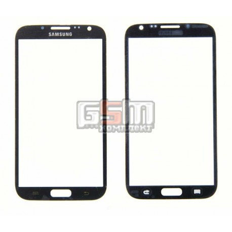 Стекло корпуса для Samsung N7100 Note 2, серое