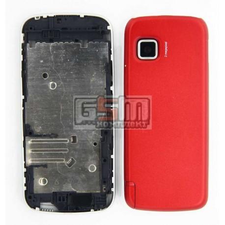 Корпус для Nokia 5230, красный, копия ААА