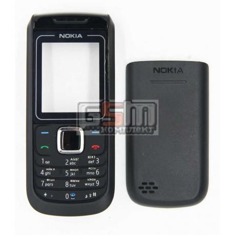 Корпус для Nokia 1680c, черный, копия ААА, с клавиатурой