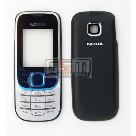 Корпус для Nokia 2330c, копия AAA, серебристый