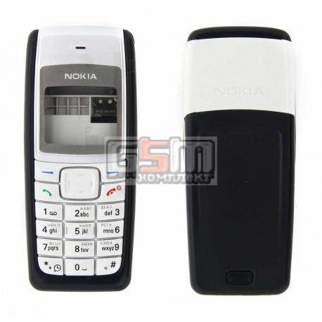 Корпус для Nokia 1110, 1110i, 1112, черный, копия ААА, с клавиатурой