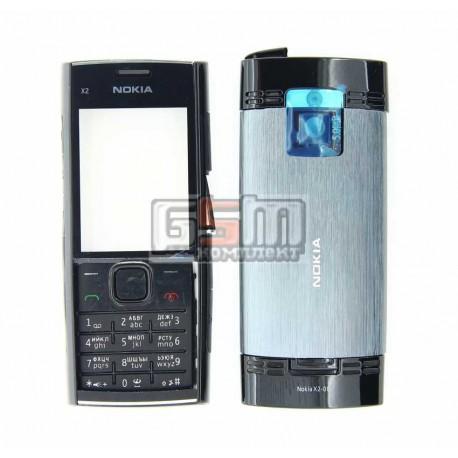 Корпус для Nokia X2-00, черный, high-copy, с клавиатурой