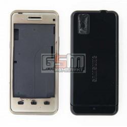 Корпус для Samsung F490, черный, копия ААА
