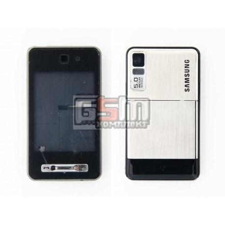Корпус для Samsung F480, серый, high-copy