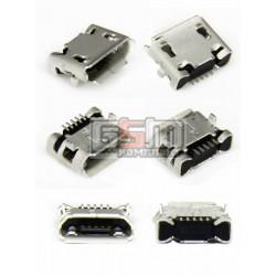 Коннектор зарядки для Fly DS104D, DS106D, DS107D, DS115, DS123, DS124, E158, E185, E210, IQ230, IQ275 Marathon, IQ4403 Energie 3, IQ4410 Quad Phoenix, TS107, TS91, оригинал, #3.H-2103-650525-000/5825001192/5825001229/145200023