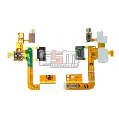 Шлейф для Sony Ericsson C510, камеры, динамика, вспышки, с компонентами