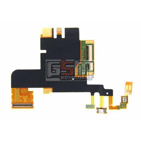 Шлейф для Sony LT28h Xperia Ion, микрофонный, кнопки камеры, с компонентами