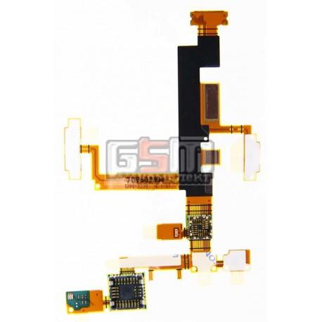 Шлейф для Sony Ericsson W890, камеры, динамика, боковых клавиш, с компонентами
