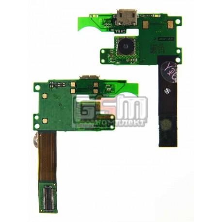 Шлейф для Nokia 7900, динамика, коннектора зарядки, с камерой, с компонентами
