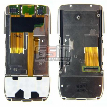 Шлейф для Nokia E66, оригинал, межплатный, с камерой, с компонентами, с верхним клавиатурным модулем, (9855427)